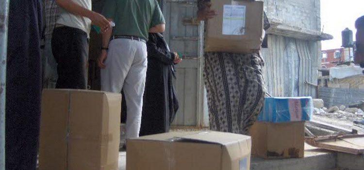 الحياة و الأمل تواصل تقديم خدمات للأسر المتضررة جراء الحرب على غزة