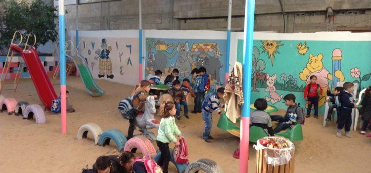 مشروع العمل مقابل المال لترميم رياض الاطفال في شمال قطاع غزة