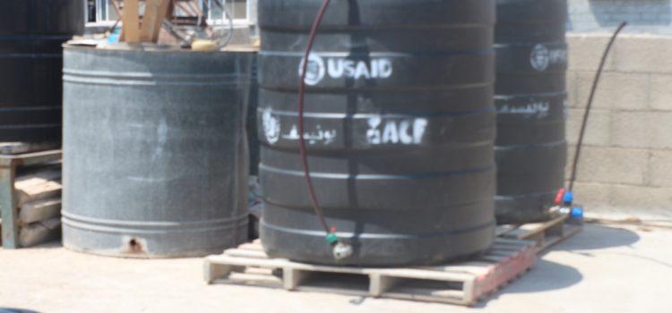 مشروع توفير المياه والصرف الصحي للأسر المهمشة في المنطقة الحدودية من قطاع غزه