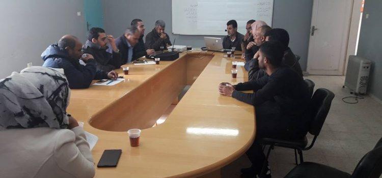 الحياة والأمل تشارك في لقاءات تحديد أولويات القضايا الاستراتيجية لبلدية أم النصر